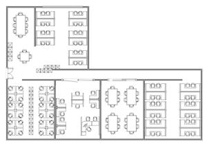 办公室布局平面图