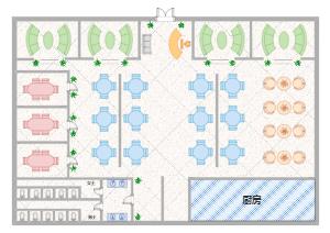 餐厅座位布局图