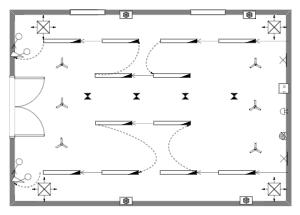 会议室天花板平面图