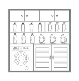 柜橱布置立面图