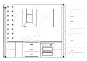 小型厨房立面图