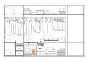 衣柜设计立面图
