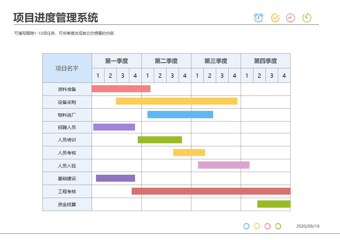 项目进度管理系统甘特图